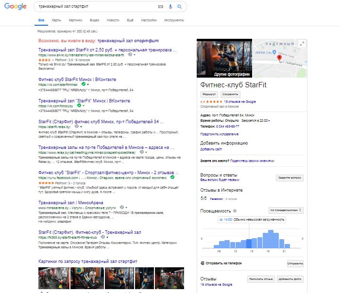 Использование сервиса Google Мой бизнес